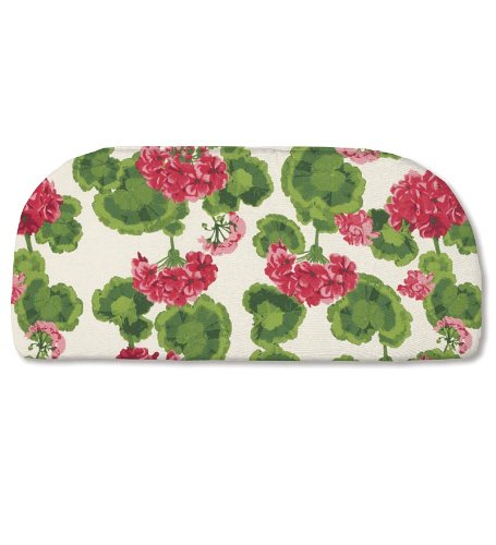 Weather-Resistant Outdoor Classic Rounded Swing/Bench Cushion without ties, in Geranium ()