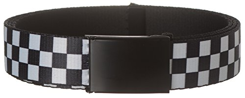 Black Checkered Belt (Strait City Trading Men's 1-1/4
