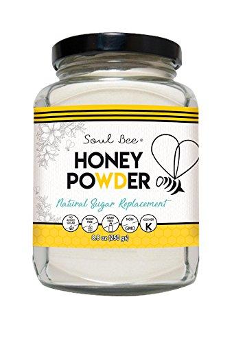 SoulBee CRYSTALLIZED HONEY - Low Calories (Non-GMO, Gluten Free, Dairy Free, Peanuts Free, Kosher) 8.8 oz