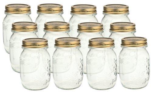 Bormioli Rocco Quattro Stagioni 17 Ounce Canning Jar, Set of 12