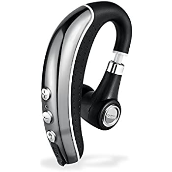 [New] Bluetooth Headset,Ansion Wireless Business Bluetooth 4.1 In Ear Earpiece Earbuds Earphones Headphones with Noise Reduction,Mute Switch,Hands Free with Mic for Office/ Workout/Driver/Trucker