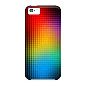 Ourcase88 Premium Protective Hard Cases For Iphone 5c- Nice Design - Cubed Colors