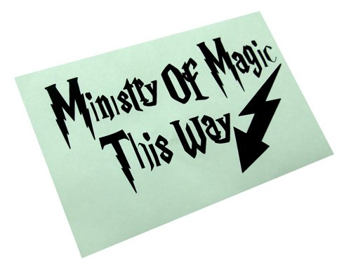 (Ministry of Magic Decal Bathroom Quote Humor Toilet Funny Vinyl Sticker (package come with glowindark switchplate decal) )