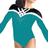 Demi Gymnastics Leotard Mystic with Rhinestone TL033 (CSM, Teal)