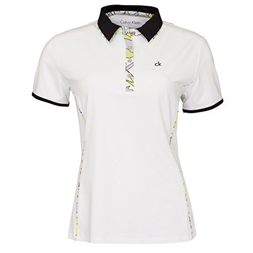Calvin Klein - Camisa deportiva - para mujer White/Chartreuse