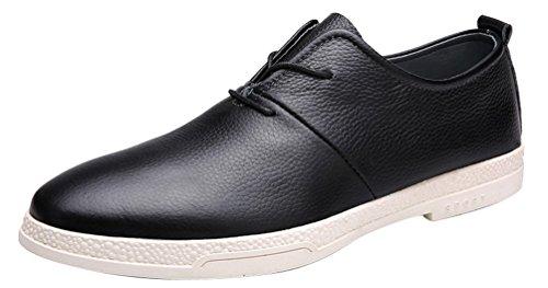 Abby 8096 Zapatos De Vestir Para Hombre Con Cordones Moda Casual Formal Boda Brogues Smart Leather Skateboarding-zapatos Negro