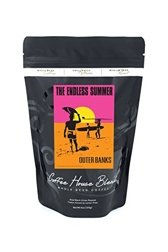 Outer Banks, North Carolina - The Endless Summer - Original Movie Poster (8oz Whole Bean Small Batch Artisan Coffee - Bold & Strong Medium Dark Roast w/ Artwork) by Lantern Press