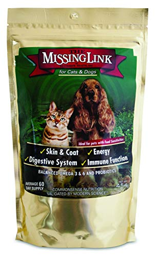 The Missing Link - Well-Blend All Natural Vegetarian Omega Superfood Dog & Cat Supplement - Healthy Skin, Coat & Digestion - 1lb