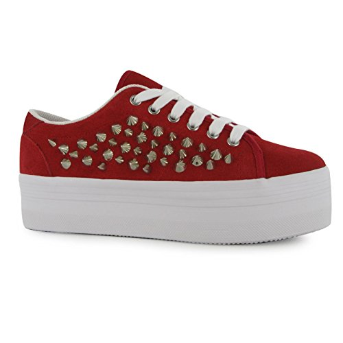 Jeffrey Campbell Play Zomg Plattform Shoes Damen rot/silber Trainer Sneakers