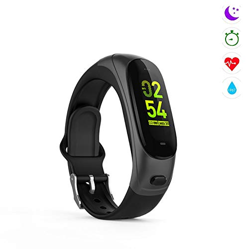 Qpw fitness tracker, Bluetooth call, pedometer, heart rate, blood pressure sleep monitoring, compatible with Android,ios