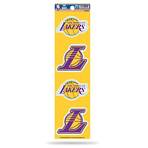 Rico Industries NBA Los Angeles Lakers Die Cut 4-Piece The Quad Sticker Sheet