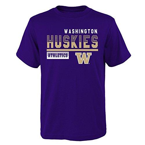 (Gen 2 NCAA Washington Huskies Kids & Youth Boys Sonic Boom Basic Tee, Youth Boys Medium(10-12), Regal Purple )