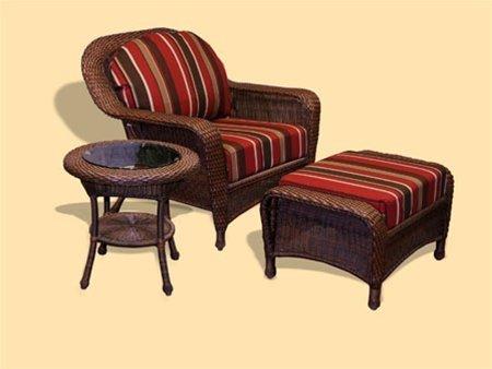 Lexington End Table Finish - Lexington 3 Piece Arm Chair, Ottoman and Table Set with Cushions Finish: Java, Fabric: No Cushion Available
