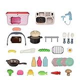 Play Kitchen Pretend Toy for Kids,Picnic & Kitchen