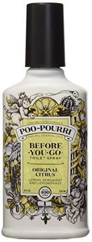 Bottle Lemon Scent (Poo-Pourri Before-You-Go Toilet Spray 8-Ounce Bottle, Original Scent)