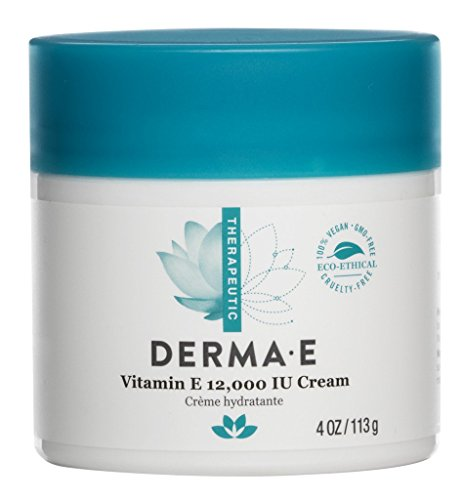 derma e Deep Moisturizing Formula, Vitamin E 12,000 IU Crme, 4 Ounce Jar(Packaging May Vary)