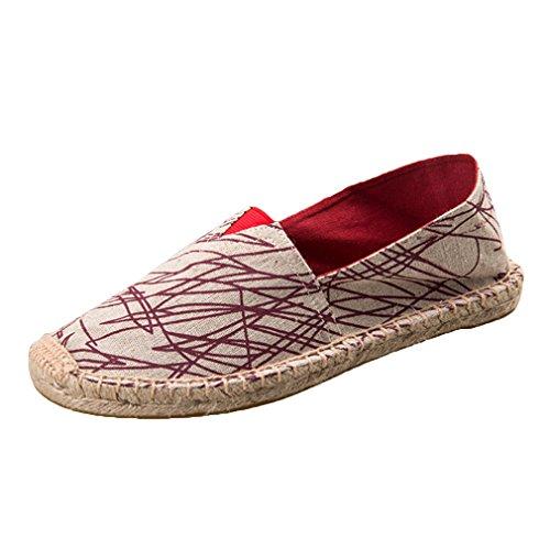 La Mode de est Couleur Chaussures Toile Décontractées Chaussures Toile Couleur Basses de Rouge des Respirent Pêcheur paresseuses de Les d'été Branche de Solide de de Chaussures U7CwBxfq
