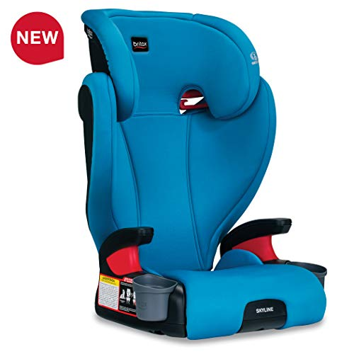 Britax USA Skyline 2-Stage Belt-Positioning Booster Car Seat – Highback and Backless – 2 Layer Impact Protection – 40 to 120 Pounds, Teal