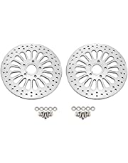 """SXMOTO 11.5"""" Front Brake Disc Rotors Stainless Steel for Touring Softail Sportster Dyna 1984-2013(Except 2008-2013 Touring Models) - 2 Pcs"""