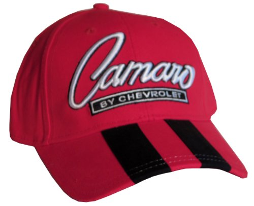 Chevrolet Camaro Rally Stripe Hat Cap (Red/Black/White) with Racing Decal