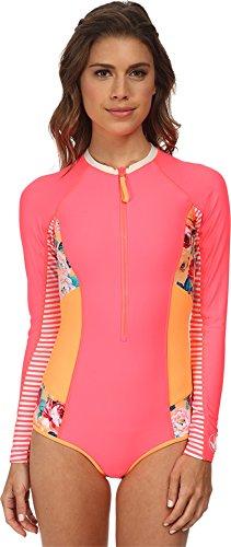 Body Glove Women's Sanctuary Breathe Paddle Suit Wildfire Rash Guard Shirt XS
