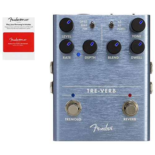 Fender Tre Verb Tremolo Reverb Effects Pedal w/Fender Play Card (Fender Chorus Pedal)