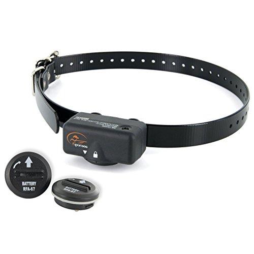 NoBark 6 Standard Bark Control Collar by SportDog Battery Bundle (2 Free Replacement Batteries)
