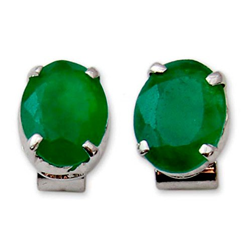 Onyx Earrings Green (NOVICA .925 Sterling Silver and Green Heat-Treated Onyx Button Earrings, India Green')