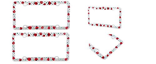 Lady Bug Plastic License Plate Frame x 2 (Lady Bug Car Mats compare prices)