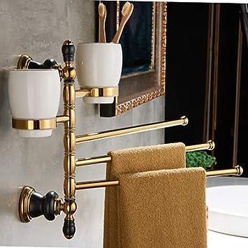 Amazon Com Hlluya Bathroom Accessory Set The Copper Gold