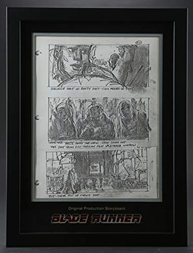(BLADE RUNNER-Original Production Storyboards - Nexus 6 Replicants Outside of Chew's Shop)