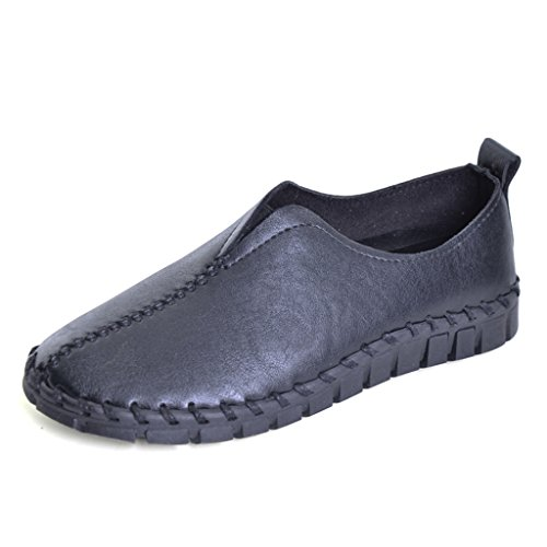 Dear Time Mujeres Casual Flats Driving Mocasines Mocasines Slip On Boat Zapatos Negro