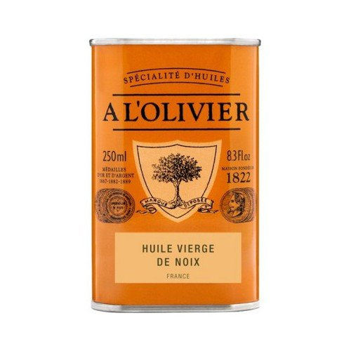 A L'Olivier Virgin Walnut Oil Tin - 8.3 oz