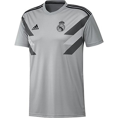 - adidas 2018-2019 Real Madrid Pre-Match Training Football Soccer T-Shirt Jersey (Grey)