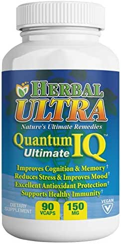 Quantum IQ 90 Vcaps Healthy Brain Memory Support Featuring Kesum by Herbal Ultra