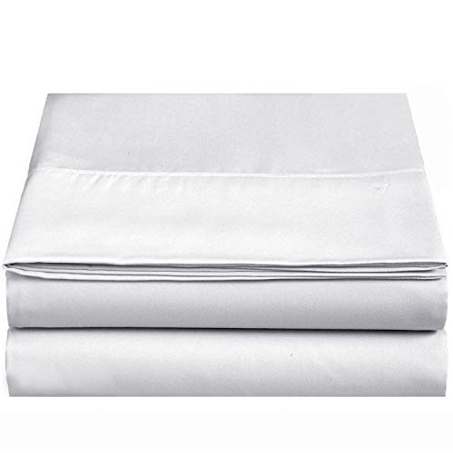 400tc 100% Cotton - CC&DD HOME FASHION 400TC 100% Long-Staple Cotton Fitted/Bottom Sheet Queen, White