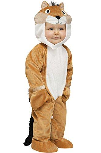 Fun World Costumes Baby's Chipper Chipmunk Toddler Costume, Tan/White/Black, Small