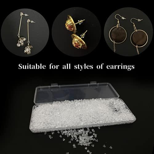 MUXGOA 4300 Pcs Earring Backs for Droopy Ears,0.26 LB Rubber Earring Backs Clear Earring Backs for Women,Diameter 4mm