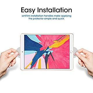 amFilm Glass Screen Protector for iPad Air 3 (2 Pack) (2019) 10.5 inch, iPad Pro 10.5 (2017) (2 Pack) Tempered Glass, Apple Pencil Compatible