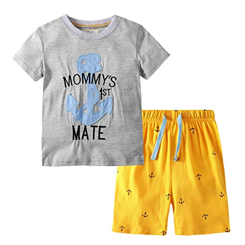 - BIBNice Baby Boys Cotton Clothing T-Shirt Plaid Shorts Sets 4t