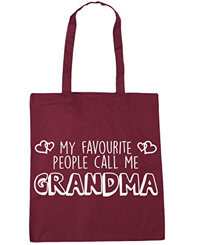litres My Gym Call Favourite People Burgundy 42cm x38cm Me Tote Shopping Beach 10 Bag Grandma HippoWarehouse 6BwCqgdC
