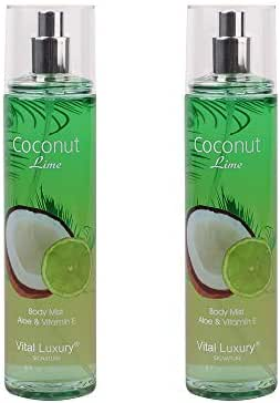 Vital Luxury Signature - Fragrance Mist - Coconut Lime,8 Fl,Oz,Pack 2