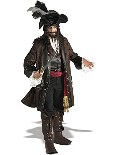 Rubie's Grand Heritage Collection Deluxe Caribbean Pirate Costume, Brown, Standard ()