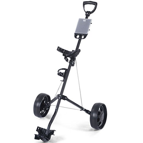 MD Group Golf Cart Holder Trolley Foldable 2 Wheels Push Pull Foldable Design Lightweight Equipment by MD Group (Image #3)