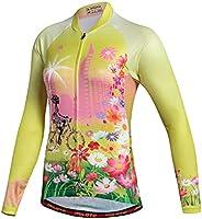 MILOTO Cycling Jerseys Long Sleeve Women Biking Shirts Team Bike Clothing
