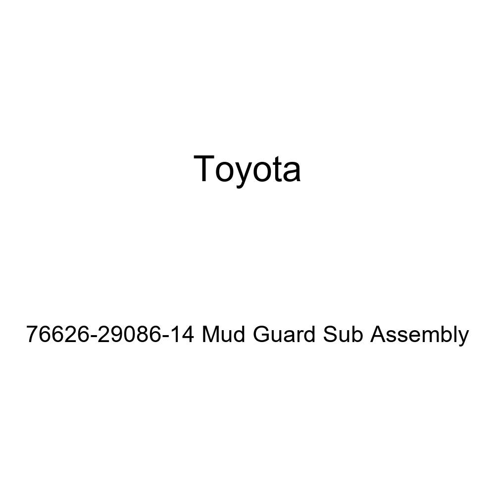 TOYOTA Genuine 76626-29086-14 Mud Guard Sub Assembly