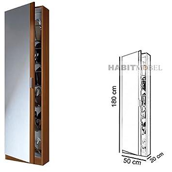 Habitmobel Schuhschrank Mit Spiegel Nussbraun Maße 180 X