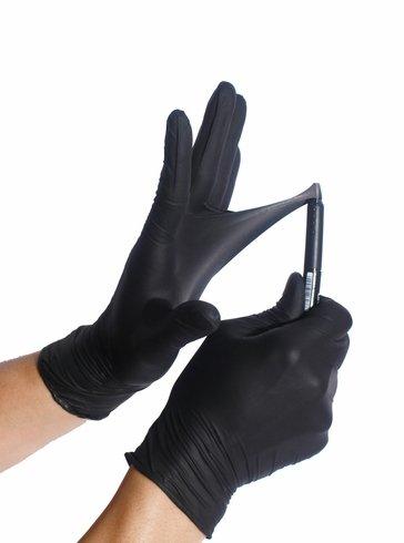 Black Nitrile Disposable Gloves 2