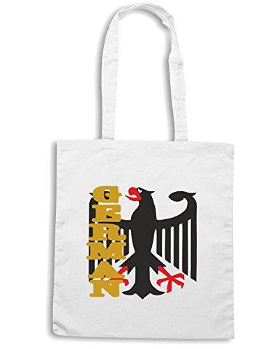 T-Shirtshock - Bolsa para la compra BEER0064 german eagle white tshirt Blanco
