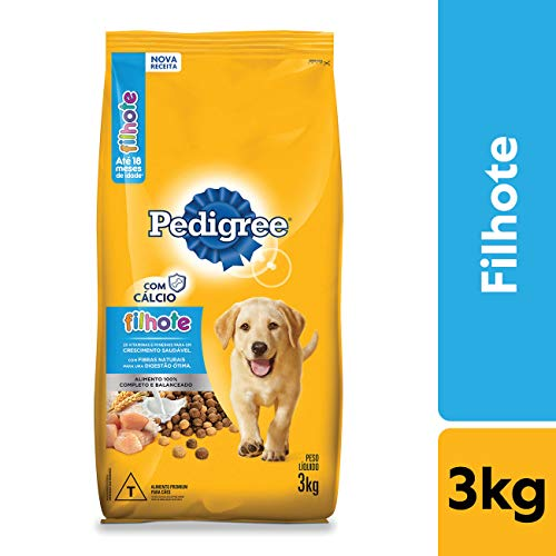Ração Pedigree Para Cães Filhotes Raças Médias e Grandes 3 kg